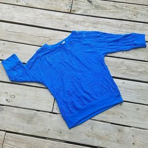 Blue Lace ¾ Sleeve